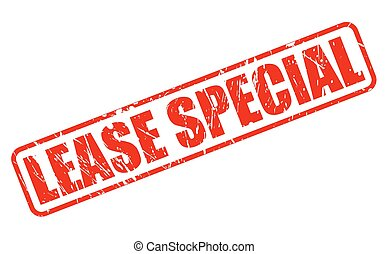 LEASE SPECIAL red stamp text on white