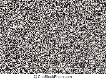 White noise, abstract black and white grain background, a4...