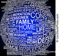 Background concept wordcloud illustration of human rights on...