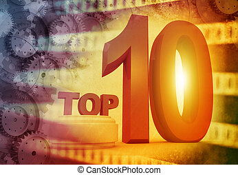 Top ten , media background