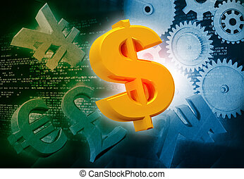 International currencies and gears , industrial production...