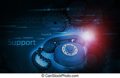 Customer support concept background
