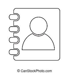 contacts book icon Illustration design
