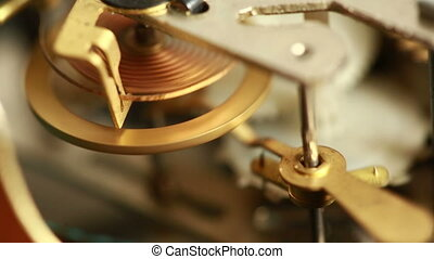 Mechanismthe old alarm clock.  clockwork
