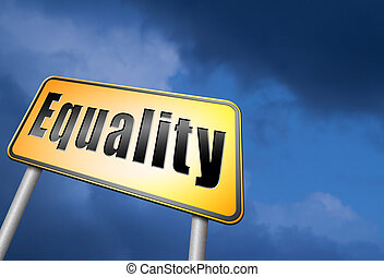 equal rights and equality sign