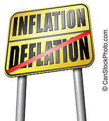 inflation deflation bank crisis or financial and economic...