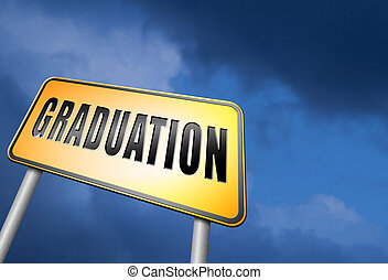graduation day - Graduation day at college high school or...