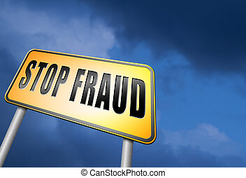 stop fraud bribe and political or police corruption money...