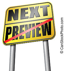 preview or next step - preview next go back or forward...