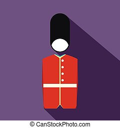 A Royal Guard icon, flat style - A Royal Guard icon in flat...