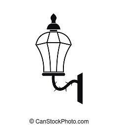 An old lamp in London icon, simple style