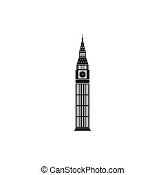 Big Ben in Westminster, London icon, simple style - Big Ben...
