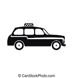 London black cab icon, simple style