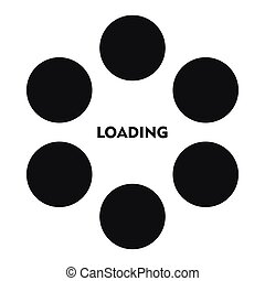 Loading icon in simple style