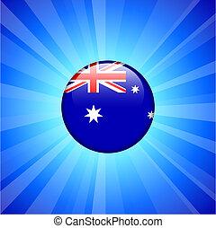 Australia Flag Icon on Internet Button