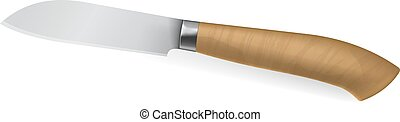 Photorealistic short knife - Vector illustration of...