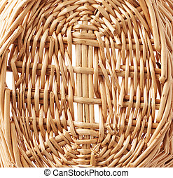 Fragment of wicker basket as a background texture composition