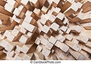 geometric wood background - background of geometric natural...
