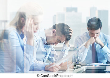 business people having problem in office - business,...