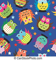 Cartoon owls background