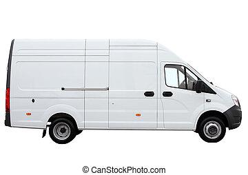 Modern cargo van.