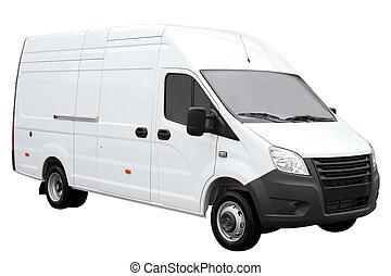blanco, moderno, furgoneta