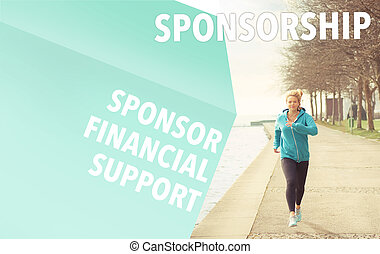 Runner and Sponsorship word cloud