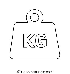 Weight kilogram icon Illustration design