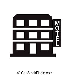 Motel icon Illustration design