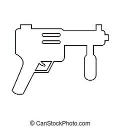 Submachine Gun icon Illustration design