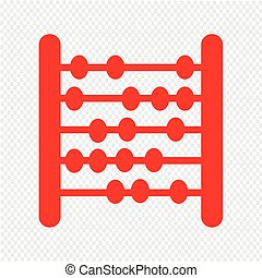 abacus icon Illustration design