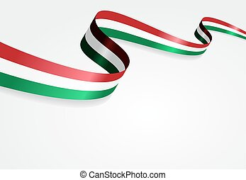 Hungarian flag background. Vector illustration. - Hungarian...