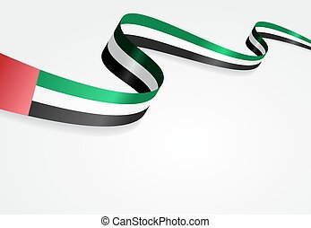 United Arab Emirates flag background Vector illustration -...