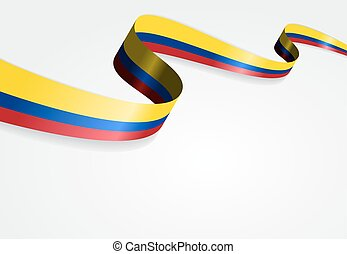 Colombian flag background. Vector illustration. - Colombian...
