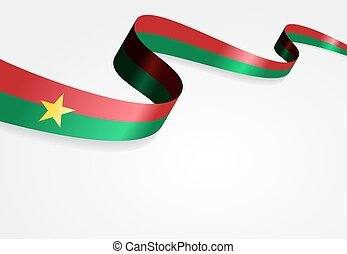 Burkina Faso flag background Vector illustration - Burkina...