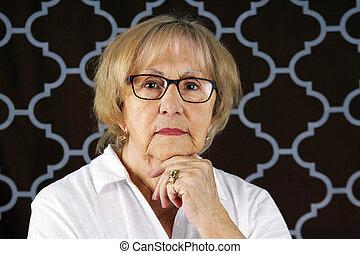 stock photo aloof woman