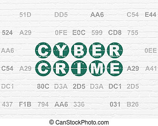 Security concept: Cyber Crime on wall background - Security...