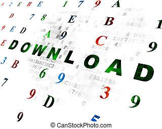 Web design concept: Download on Digital background - Web...