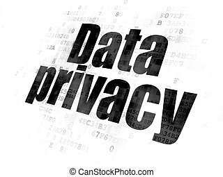 Privacy concept: Data Privacy on Digital background -...