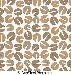 Coffee beans seamless pattern - Brown coffee beans seamless...