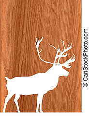 deer on wood background