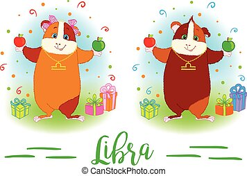 The signs of the zodiac. Guinea pig. Libra. - The signs of...