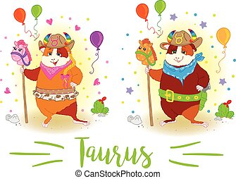 The signs of the zodiac. Guinea pig. Taurus. - The signs of...