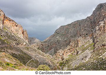 Kourtalioti Canyon - Landscape at Kourtalioti Canyon in...