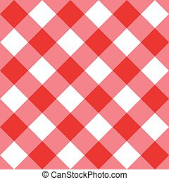 Table diagonal cloth seamless pattern red big size