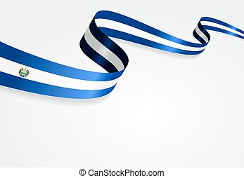 El Salvador flag background Vector illustration - El...