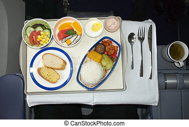 Airline meal - business class airline meal