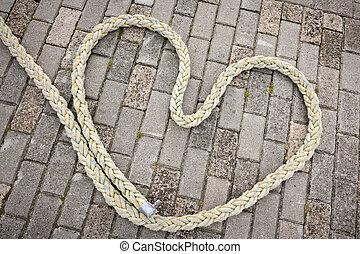 Heart of rope_horizontal - Draufsicht auf ein aus einem...