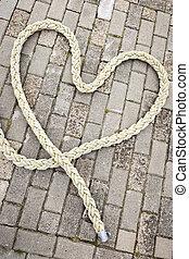 heart of rope_vertical - Draufsicht auf ein aus einem...