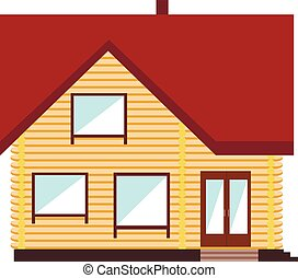 Small house on white background